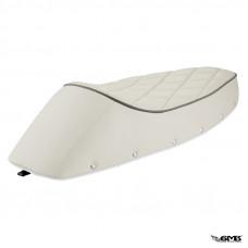 Diamond Shape Stitching White Sport Seat for Vespa...