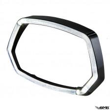 A-Plus Headlamp Rim for Vespa Sprint Black Gloss