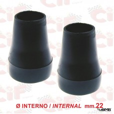 CIF Stand Pads (Pair) in Black Rubber Inside ø20m...