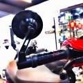 HD Corse Round Shape Back Mirror Black