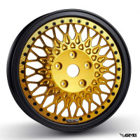 HD Corse C-Type 2 piece wheel Black Gold