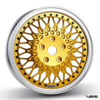 HD Corse C-Type 2 piece wheel Polished Gold