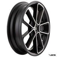 SIP Rim Pordoi Vespa GTS 3.00-12inches Black Silver Edge - Pair