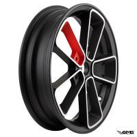 SIP Rim Pordoi Vespa GTS 3.00-13inches Black Red - Pair