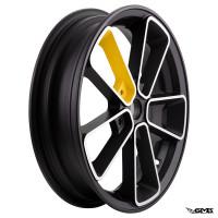 SIP Rim Pordoi Vespa GTS 3.00-12inches Black Yellow - Pair