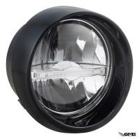 SIP Headlight LED for Vespa Primavera Black Shiny