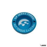 "SIP Pordoi Hub Nut Cover 12"" Front Rim Vespa - Matt Blue"