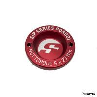 "SIP Pordoi Hub Nut Cover 12"" Front Rim Vespa - Red"