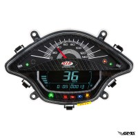 SIP Digital Speedo Vespa Sprint/Primavera Black Ca...