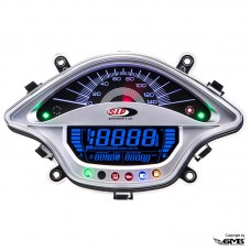 SIP Digital Speedo Vespa Sprint & Primavera Silver Face