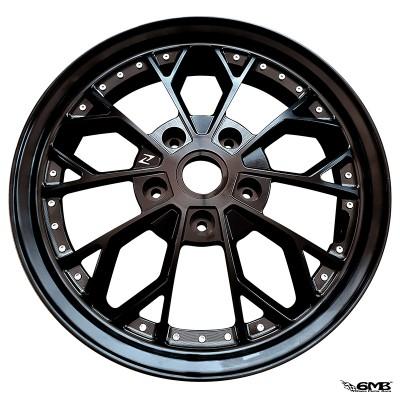 Zelioni Wheel Comb 2 Black Bolt Silver