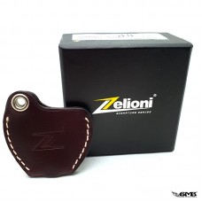 Zelioni Key Cover Leather Dark Brown