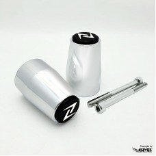 Zelioni Bar end Vespa GTS Chrome With Black Logo